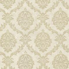 495-69061 Gold Shimmer Damask - Tennyson - Beacon House Wallpaper
