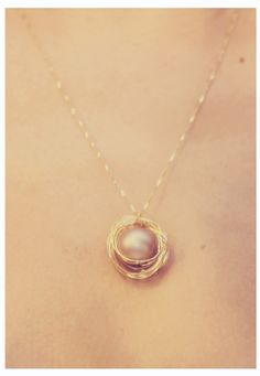 Delicate DIY Bird's Nest Necklace by chloemoorephotography #DIY #Necklace #Bird_Nest