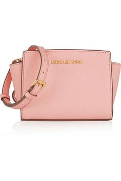 Selma mini textured-leather shoulder bag #bag #women #covetme #michaelmichaelkors