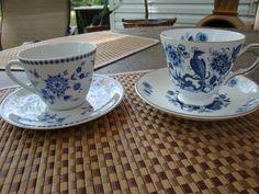 ROYAL TARA teacup & BAVARIA teacup- Both sets covered with lovely BLUE flowers | eBay