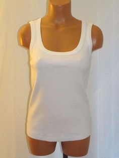 ced346cd6daeb Chico s Ribbed Sleeveless Tank Top Shirt Size 0 XS White Cotton