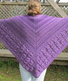 Free Knitting Pattern Shell Stitch and Eyelets Shawl  I knit a version of this shawl in bulky variegated yarn for my mother — it was gorgeous. Pictured project by yarn-yakker.
