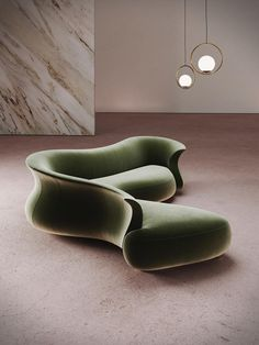 """""""the """"amphora corner"""" curved sofa by DESFORMA — inspired by the shapes of a neolithic amphora"""" Sofa Chair, Sofa Furniture, Furniture Design, Sofa Beds, Couches, Custom Furniture, Home Interior, Interior Decorating, Living Room Decor"""