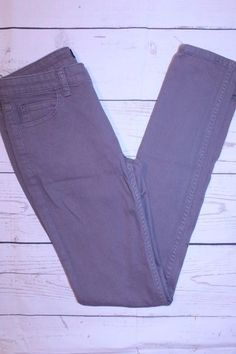 Kate Spade Pants 27 Gray 'Let Loose' Cotton Blend Stretch Skinny Denim Pants #katespade #SlimSkinny