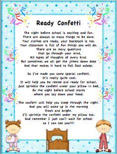 "O ""FISH"" ally a First Grader: Ready Confetti"