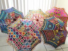 Ceiling lampshade from India. Fabric umbrella lamp shade. Colorful Ethnic embroidered decor ornament. Ethnic decor idea. From Artikrti