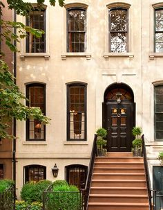 Two 'holders' under the windows Tour a 1910 New York City Townhouse | Interior by Jeffery Bilhuber