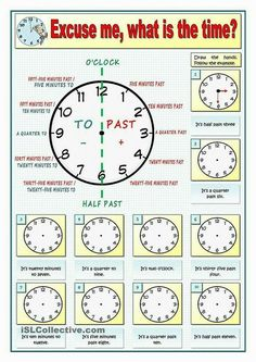 Excuse me, what is the time? Part 1 English Time, Kids English, English Course, English Study, English Words, English Lessons, Learn English, Spanish Lessons, French Lessons