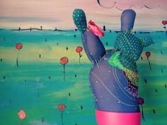 Cactus Circolor de tela para decorar el hogar/ por Circolor en Etsy