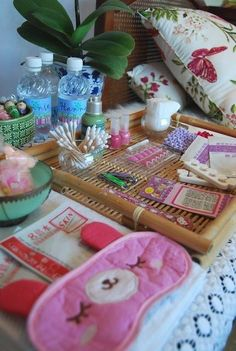 Set up a mini spa. | 39 Slumber Party Ideas To Help You Throw The Best Sleepover Ever
