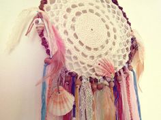 - Made to order! -   Gypsy wall hanging #dreamcatcher in pastel shades with…