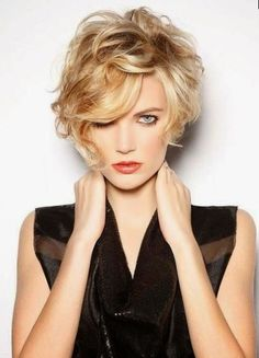 Short Wavy Hairstyles Curly Short Hair For Square Face  Curly Hair Square Face Short