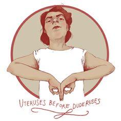 Uteruses before duderuses http://society6.com/eplet