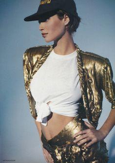 Christy Turlington Vogue UK March 1990 by Arthur Elgort