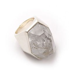 Pippa Small- Rock Crystal Ring. Available at Octium