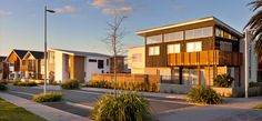 Streetscape at Hobsonville Point - Universal Homes