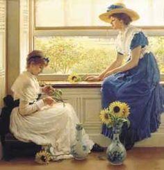 Sun and Moonflowers, GD Leslie, 1889