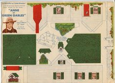 1930s Anne Shirley ANNE OF GREEN GABLES Paper Cut-Out House/Doll House   eBay