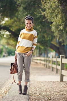 Warm Winter :: Mustard stripes