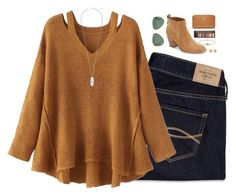 """""""fall """" by cjstefan ❤ liked on Polyvore featuring Abercrombie & Fitch, WithChic, Dolce Vita, Madewell, Cartier, Tory Burch, Kendra Scott and Urban Decay"""