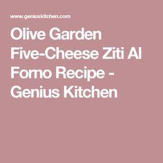 Olive Garden Five-Cheese Ziti Al Forno Recipe - Genius Kitchen