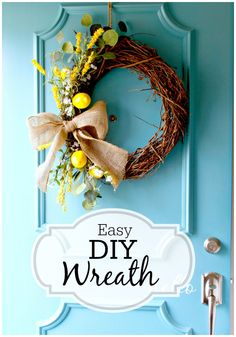 DIY Spring wreath. Such an easy to do project. www.chatfieldcourt.com