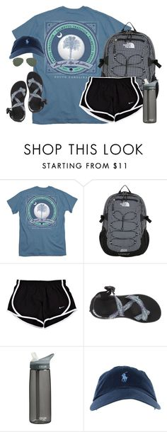 """""""one of the hardest things you will ever have to do is grieve the loss of somebody who is still alive."""" by kaley-ii ❤ liked on Polyvore featuring The North Face, Chaco, CamelBak, Ray-Ban, women's clothing, women, female, woman, misses and juniors"""