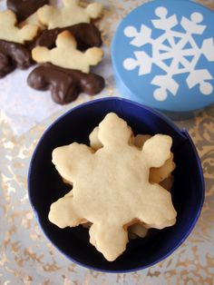 Shortbread cookies are traditional, classic Christmas cookie recipe. Love the snowflake shape!