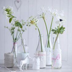 Flaschen werden zu Vasen