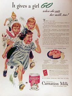Retro Carnation Milk Ad                                                                                                                                                                                 More