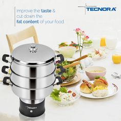 Improve the taste and cut down the fat content of your food with Tecnora Multisteam Cooker.  To know more, visit: http://tecnora.in/products/multi-steam-cooker-2/