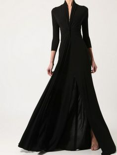 Long Black Dress with Sleeves Ideas : Long Black Vintage High Waistline Dress Beautiful Gowns, Beautiful Outfits, Look Fashion, Fashion Design, Street Fashion, Fashion Ideas, Mode Outfits, Mode Inspiration, Dress To Impress