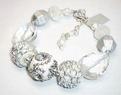 Wonderful White & Silver Jesse James Bead by AboveAllBeBlessed