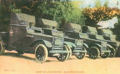 Carte Postale Postcard 1914-1918 Camp de la Courtine Autos-mitrailleuses Camp of Courtine Armoured cars   Flickr - Photo Sharing!
