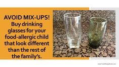 My son no longer lives with me, but I still save the green drinking glasses for him! #foodallergy