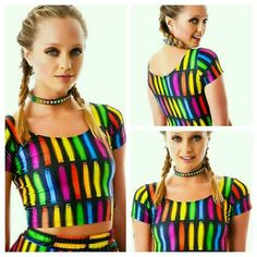 Zara Terez Glowstick Lightshow Crop Cropped Top S Sz small measurements posted soon thanks for ur time and consideration Zara Terez  Tops Crop Tops
