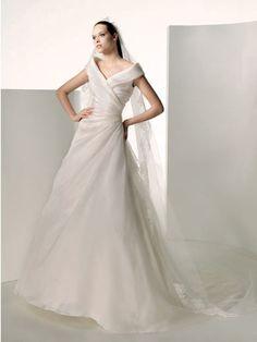 Off the shoulder wedding dress :-)