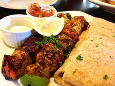 Greek Restaurant: Chicken Souvlaki, via Flickr.