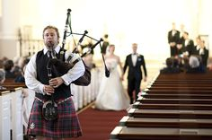 bagpiper at ceremony | Alyse French #wedding