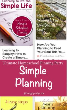 Simple Planning at The Ultimate Homeschool Pinning Party