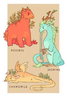 O'Neill on some little tea dragons!some little tea dragons! Creature Drawings, Animal Drawings, Cute Drawings, Wolf Drawings, Drawing Animals, Pretty Art, Cute Art, Art Mignon, Poses References