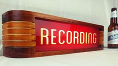 Large Recording Light - Red/Cherry Finish | Reverb