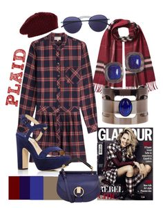 """""""Purely Perfectly put together Plaid!!!"""" by mdfletch on Polyvore featuring Burberry, Current/Elliott, Paul Andrew, Mykita, Yochi, KAROLINA, Accessorize, Chloé and plaid"""