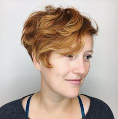 Tapered Pixie for Wavy Hair