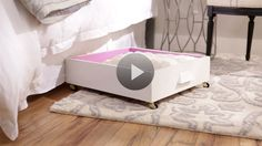 Running out storage space in your bedroom? Look under the bed! Old dresser drawers will turn this underutilized space into smart storage. Watch and learn how easy it is.