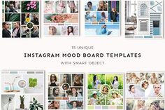 15 Instagram Mood Board Templates V3 by CreativeWhoa on @creativemarket