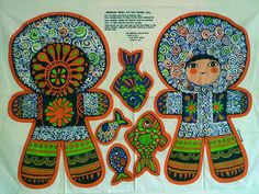 Vintage cut out doll - Eskimo by Belinda Lyon - Oxfam Doll Crafts, Fun Crafts, Crafty Hobbies, Native American Dolls, Crafty Fox, Paper Toys, Graphic Illustration, Graphic Art, Textures Patterns