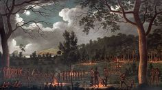 [Corroboree at Newcastle / oil painting by Joseph Lycett] - digitally lightened image Australian Painting, Australian Artists, Newcastle, Australian Aboriginals, Aboriginal Culture, First Contact, The Good Old Days, Landscape Art, Art Google