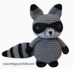 Free crochet pattern for raccoon