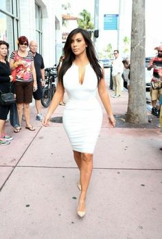 WDW Style: Kim Kardashian: headed to the DASH store in Miami - After a relaxing day out and about, the Kardashi